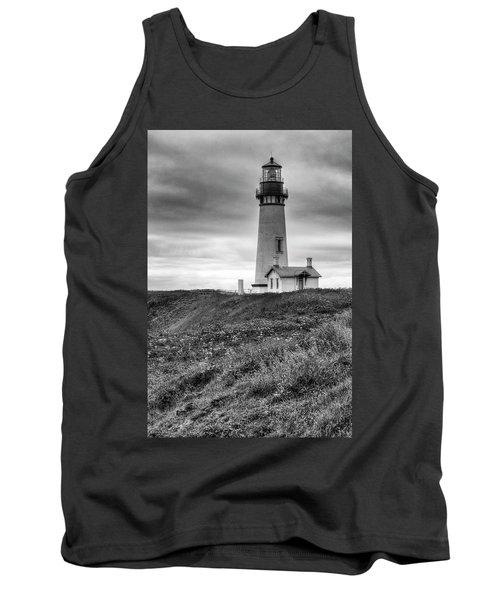 Yaquina Head Lighthouse - Monochrome Tank Top