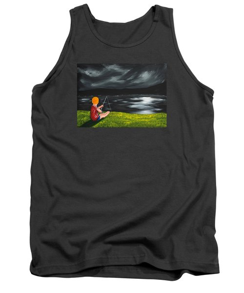 Tank Top featuring the painting Yel No Catch A Kelpie Wi That by Scott Wilmot