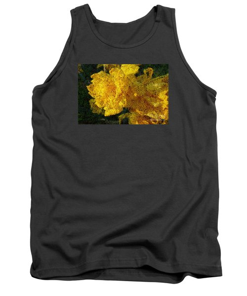 Yellow Abstraction Tank Top by Jean Bernard Roussilhe