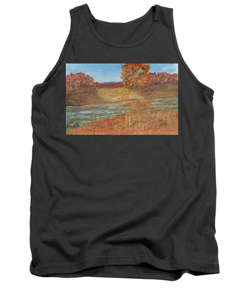 Yellow And Red Maples Tank Top