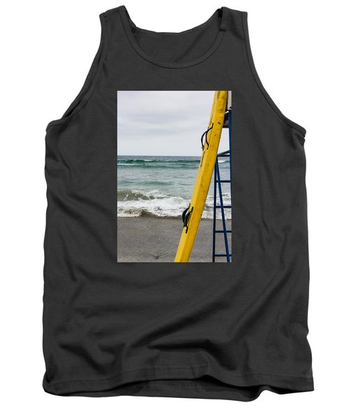 Yellow Surfboard Tank Top