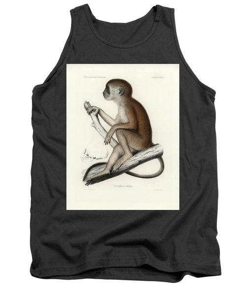 Yellow Baboon, Papio Cynocephalus Tank Top by J D L Franz Wagner
