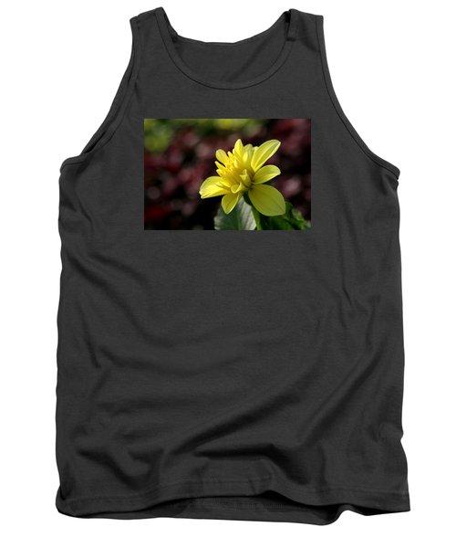 Yellow Bloom Tank Top by Robert Och