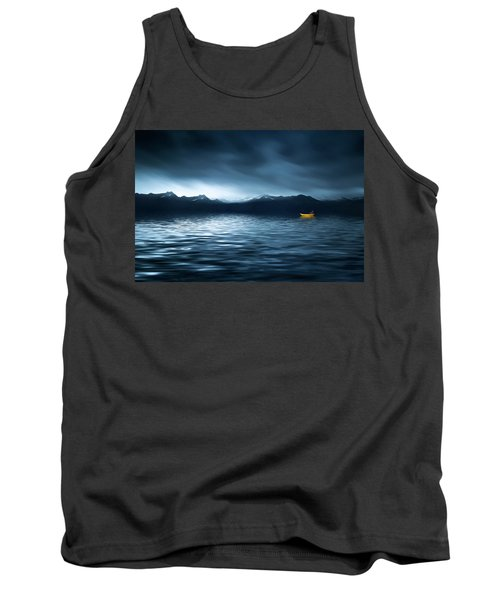 Tank Top featuring the photograph Yellow Boat by Bess Hamiti