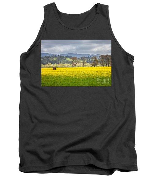 Yellow Fields Along The Eel River Tank Top by Mark Alder