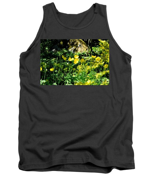 Yellow Flowers Bathing In The Sun Tank Top by Tanya Searcy