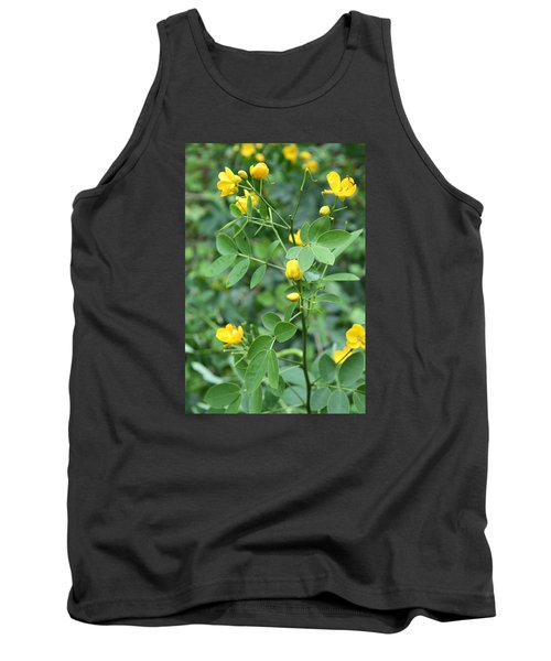 Tank Top featuring the photograph Yellow Flowers by Karen Nicholson