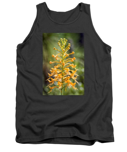 Yellow Fringed Orchid Tank Top by Bob Decker