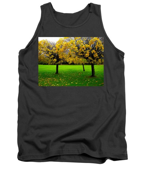 Yellow Leaves At Muckross Gardens Killarney Tank Top