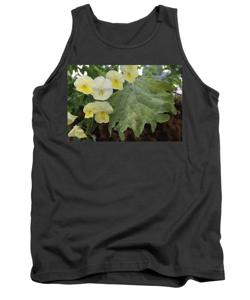 Yellow Pansies Tank Top