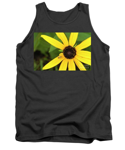 Yellow Petaled Flower With Bug Tank Top