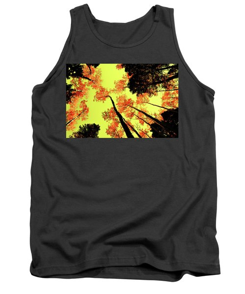 Yellow Sky, Burning Leaves Tank Top by Kevin Munro