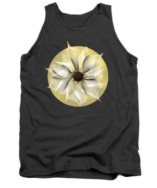 Tank Top featuring the digital art Yellow Soft Flower by Alberto RuiZ