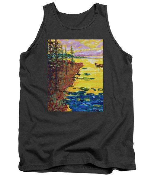 Yellow Sunset Tank Top by Mike Caitham