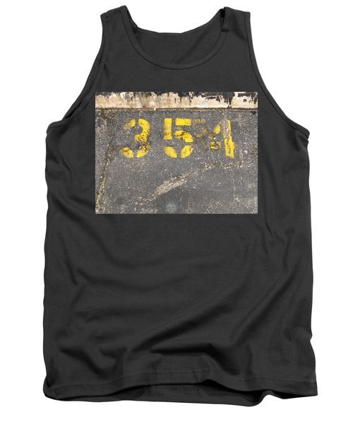 Yellow Three Five Five Four Tank Top