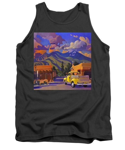 Yellow Truck Square Tank Top