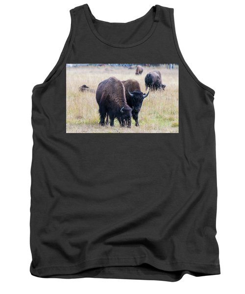 Tank Top featuring the photograph Yellowstone Bison by Jennifer Ancker