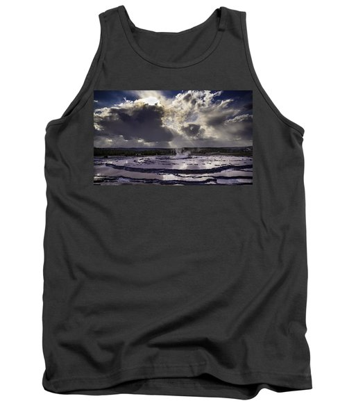 Yellowstone Geysers And Hot Springs Tank Top by Jason Moynihan