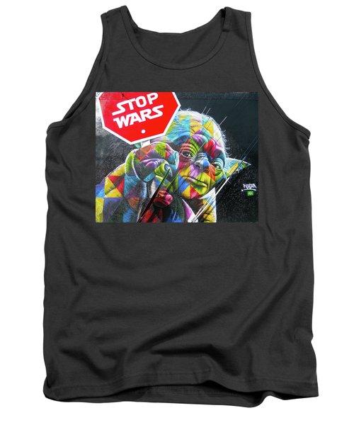 Yoda - Stop Wars Tank Top