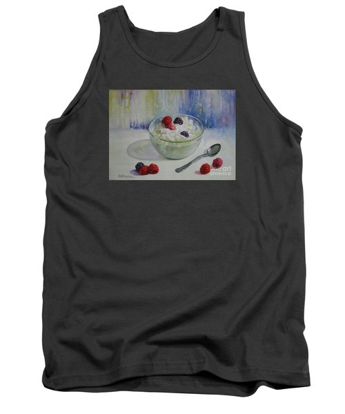 Tank Top featuring the painting Yoghurt Time by Elena Oleniuc