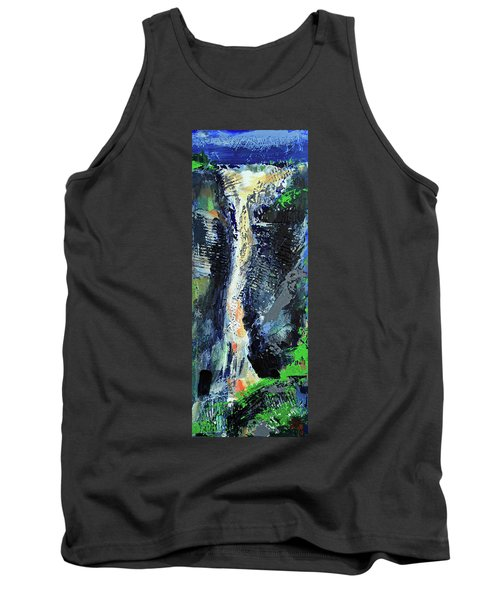 Tank Top featuring the painting Yosemite Falls by Walter Fahmy