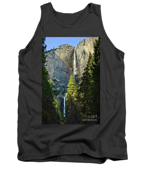 Yosemite Falls With Late Afternoon Light In Yosemite National Park. Tank Top