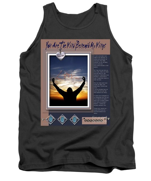 Tank Top featuring the digital art You Are The Wind Beneath My Wings by Kathy Tarochione