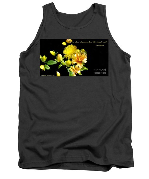 Tank Top featuring the photograph You Have To Grow by Gena Weiser
