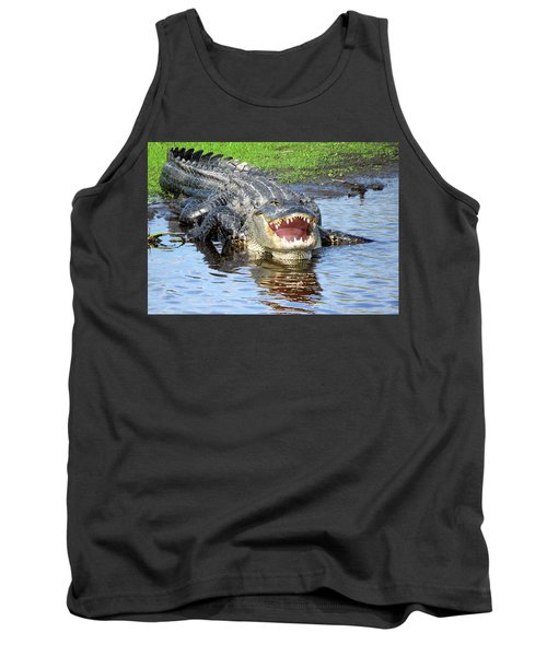 You May Think I'm Smiling Tank Top by Rosalie Scanlon