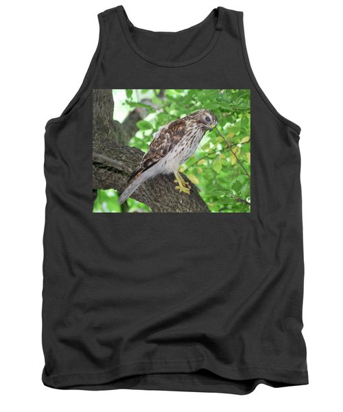 Young Red Shouldered Tank Top