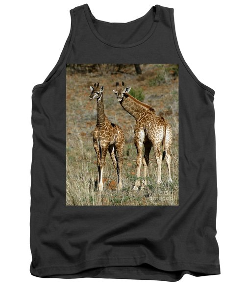 Young Giraffes Tank Top by Myrna Bradshaw