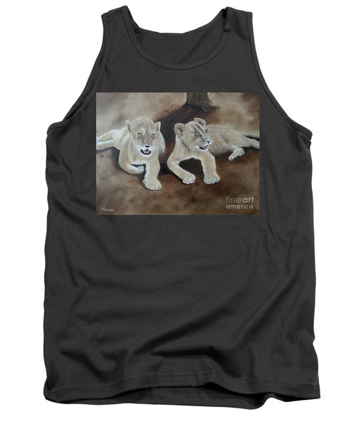 Young Lions Tank Top by Bev Conover