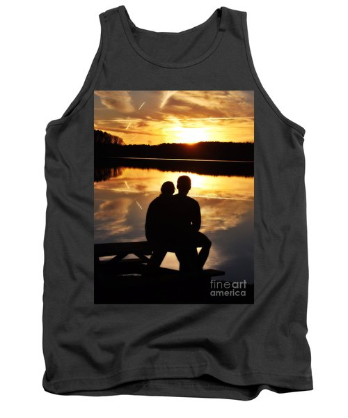 Young Love And Sunsets Tank Top