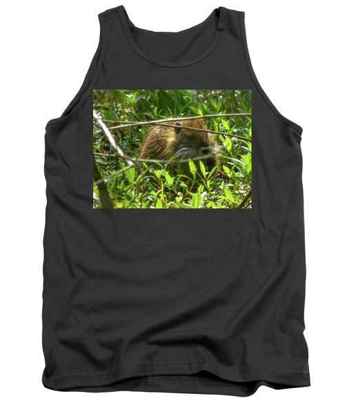 Young Nutria In Love Tank Top by Kimo Fernandez