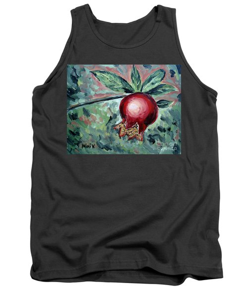 Tank Top featuring the painting Young Pomegranate by Maria Langgle