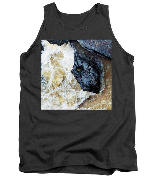 Yuba Blue Boulder In Stormy Waters Tank Top