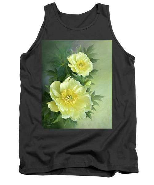 Tank Top featuring the digital art Yumi Itoh Peony by Thanh Thuy Nguyen