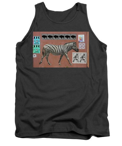 Tank Top featuring the photograph Zebra Collage by Art Block Collections