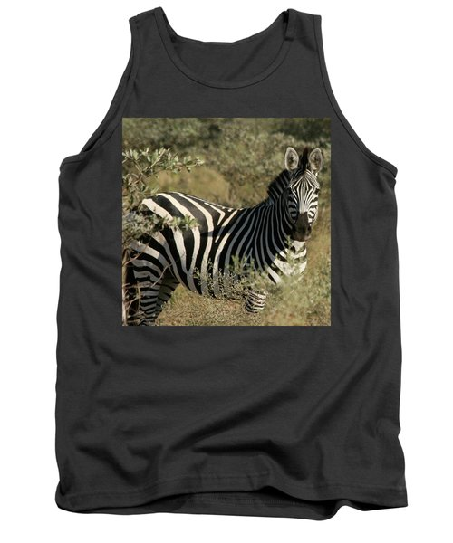 Zebra Portrait Tank Top