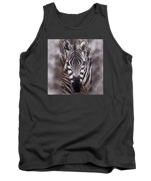 Zebra Splash Tank Top