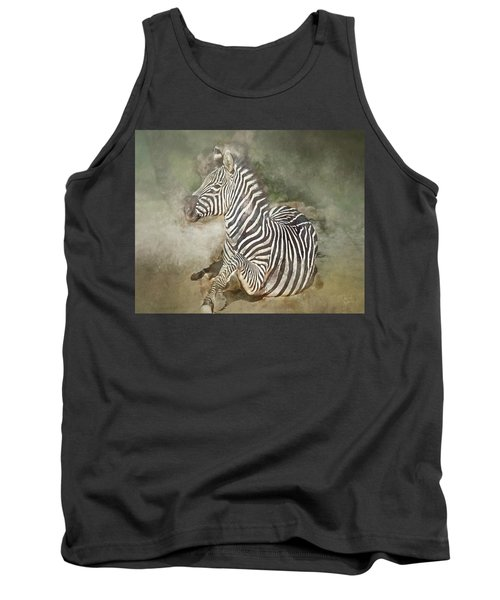 Zebra Watercolor Tank Top