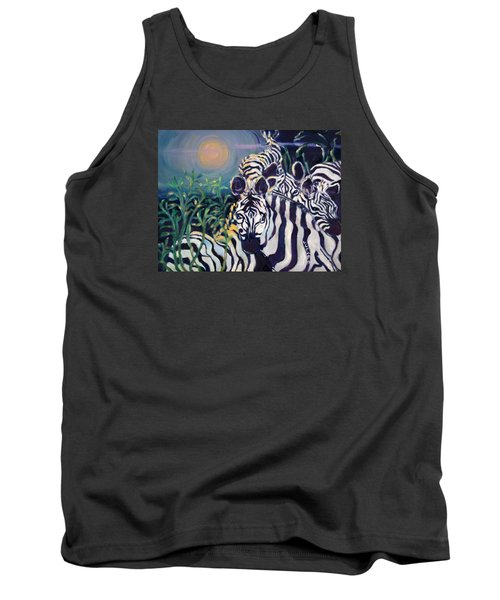 Zebras On The Savanna Tank Top by Julie Todd-Cundiff
