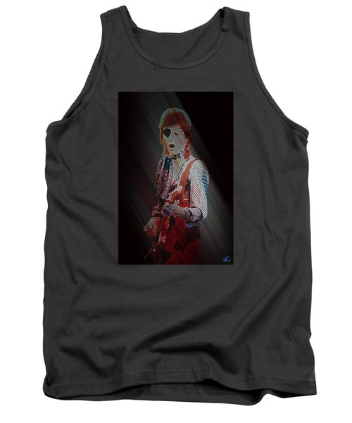 Ziggy Played Guitar Tank Top by Kenneth Armand Johnson