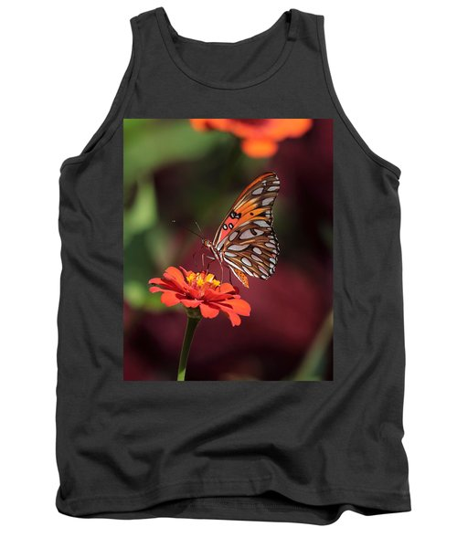 Zinnia With Butterfly 2668 Tank Top