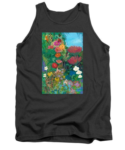 Zinnias Garden Tank Top by Robin Maria Pedrero