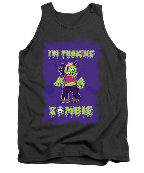 Tank Top featuring the digital art Zombie by Julia Art