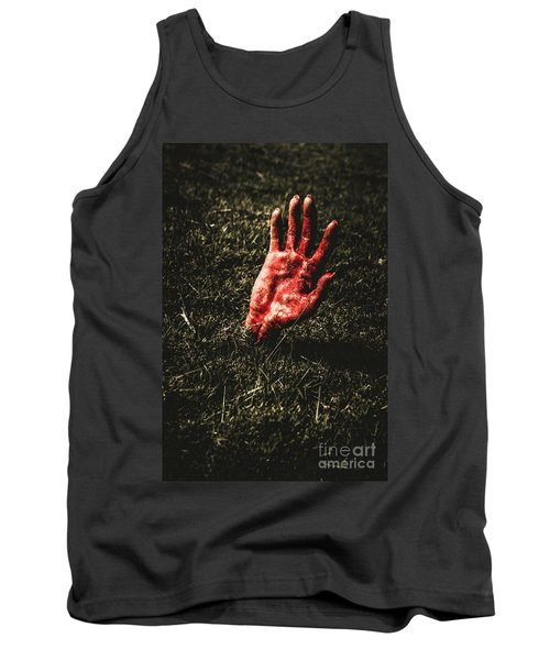 Zombie Rising From A Shallow Grave Tank Top