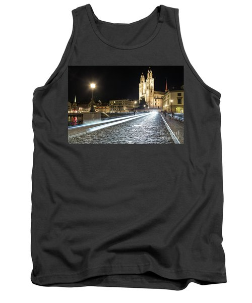 Zurich Night Rush In Old Town Tank Top