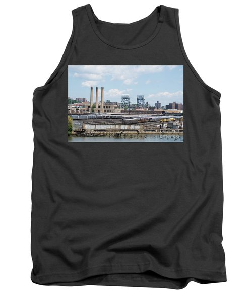 Tank Top featuring the photograph 207th Street Railyards by Cole Thompson