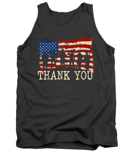 American Flag Tshirts Thank You Veterans Tank Top